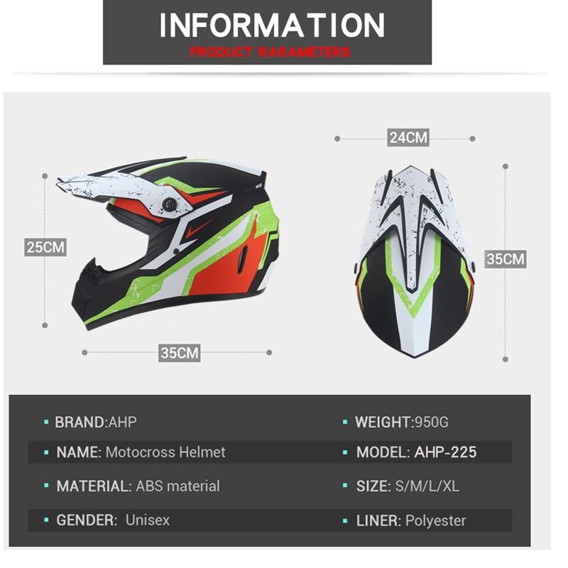 Мотоциклетный Полнолицевой шлем Casco Moto внедорожный шлем ATV Dirt Bike горные MTB DH Capacete Moto очки шлем для мотокросса
