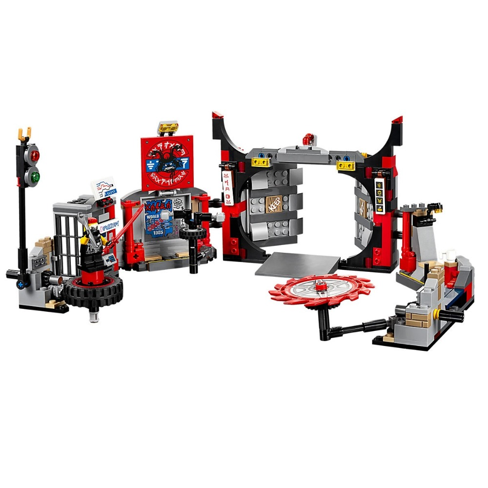 Lepin 594PCS Building Blocks toys for Childrens Compatible Legoe Ninjagoe 70640 Bricks Model S.O.G. Headquarters Kid gift