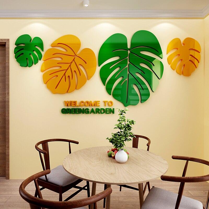 Créatif style nordique acrylique autocollant 3d auto-adhésif salon canapé fond restaurant mur décoratif stickers muraux