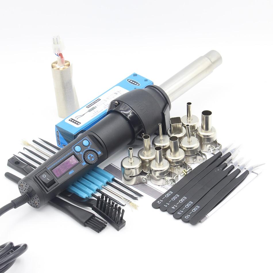 Chuilian 8858LCD 650 watt LCD Einstellbare Elektronische Wärme Hot Air Gun Entlöten Löten Station Düse pinzette Schweißen tool-in Lötstationen aus Werkzeug bei AliExpress - 11.11_Doppel-11Tag der Singles 1