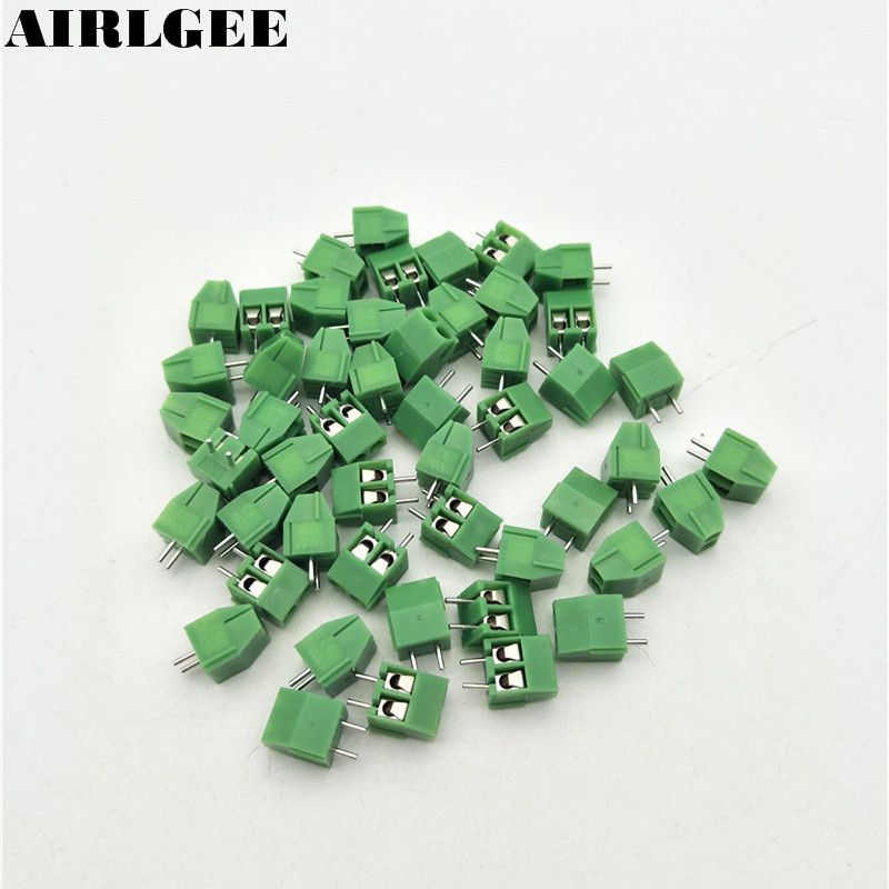 Green 50 Pieces <font><b>3.5mm</b></font> Pitch 300V 10A Vertical PCB Mount Type <font><b>Terminal</b></font> <font><b>Block</b></font> Wire Connector Free shipping image