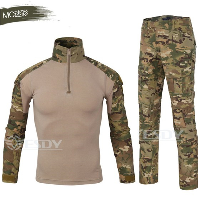 US Tactical Suit Camouflage Military Uniform Army Suit Combat Shirt Tactical Pants Paintball Hunting Clothes