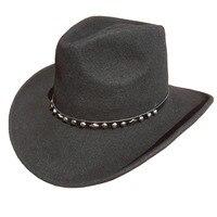 Unisex Black Wool Felt Western Cowboy Hat FREE SHIPPING