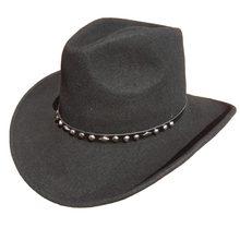 Unisex lana negro Fieltro sombrero de vaquero occidental + envío  libre(China) a691079b0bf