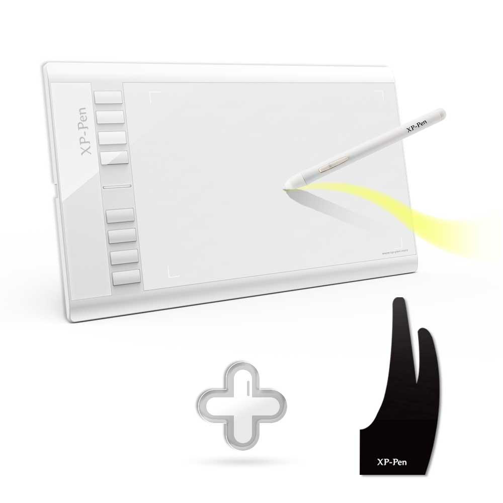 XP-Stylo Star03 12 Tablette Graphique Dessin Tablet + xp-stylo Anti-fouling Gant pour Dessin tablet S/M/L Taille