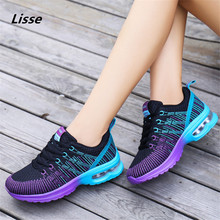 2018 Sport Running Shoes Woman Outdoor Breathable Comfortable Couple Shoes Lightweight Athletic Mesh Sneakers Women High Quality