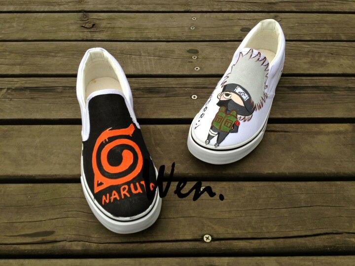 Wen Design Custom Anime Naruto Hatake Kakashi Hand Painted font b Skateboard b font font b