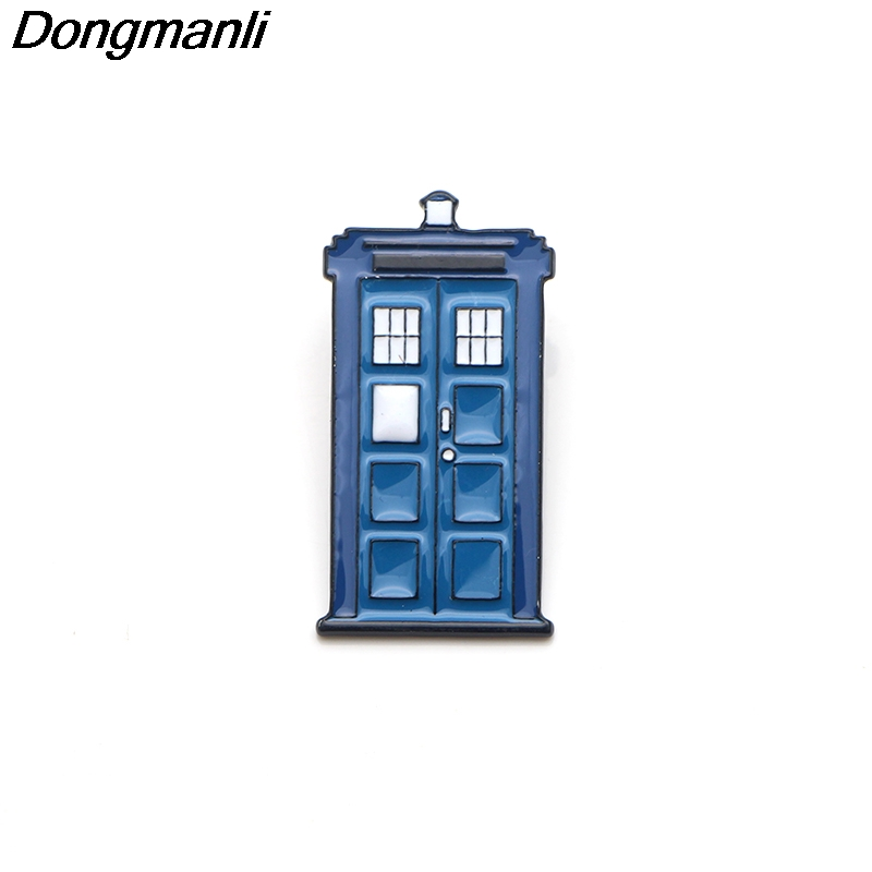 P3556 Dongmanli Doctor Who TV Show booth Metal Enamel Pins and Brooches for  Fashion Lapel Pin Backpack Bags Badge Gifts