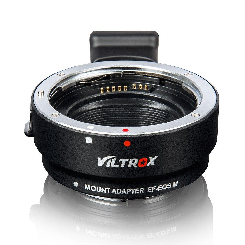 Adaptateur d'objectif de mise au point automatique électronique Viltrox EF-EOS M pour objectif Canon EF EF-S vers EOS M M2 M3 M5 M6 M10 M50 M100 caméra à montage EF-M