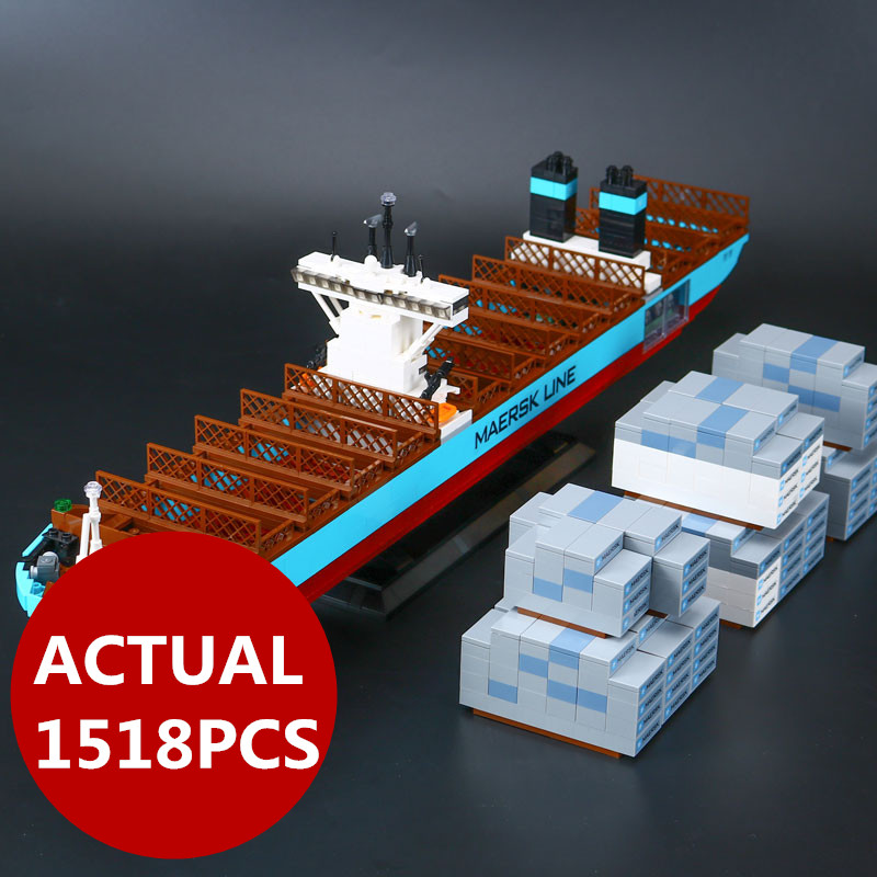 Lepin 22002 Technic Series 1518pcs The Maersk Cargo Container Ship Set Educational Building Blocks Bricks Model Toys Gifts 10241 lepin 22002 1518pcs the maersk cargo container ship set educational building blocks bricks model toys compatible legoed 10241