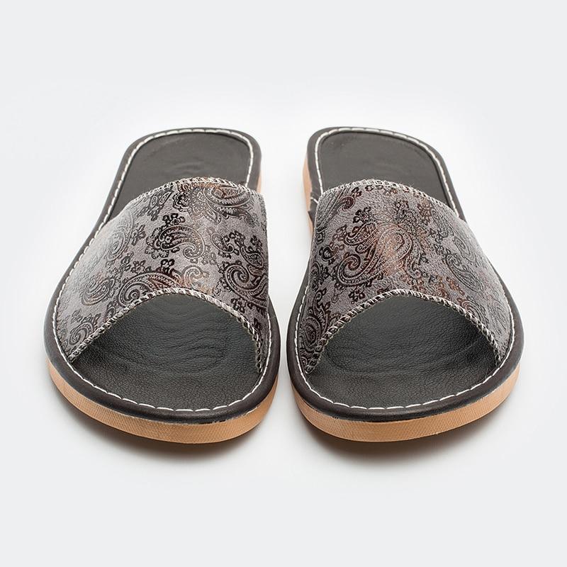 Genuino M Hombres 8806 Caliente Y Verano De Cuero Brown Zapatillas Primavera gray 2018 Interior Nuevo Antideslizante tq7pwqg4
