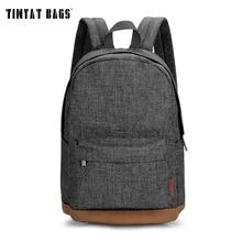 Tinyat рюкзак мужской холст студент колледжа школьный рюкзак повседневные Рюкзаки Ноутбук Рюкзаки Женские Mochila T101 серый