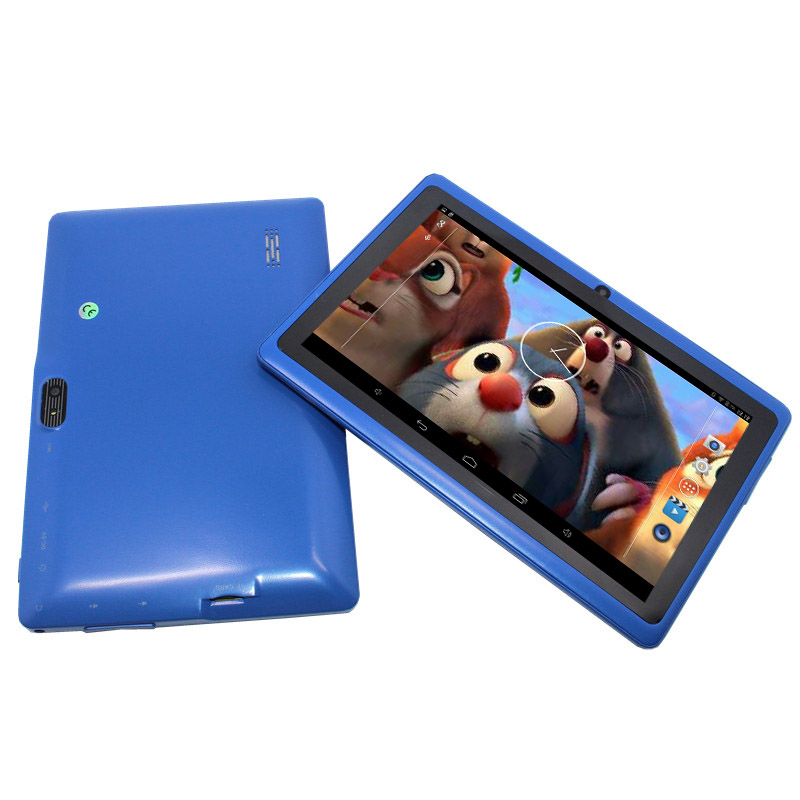 Flash Q88 Cheapest kids tablet pc 7 inch Android 4.4 Allwinner A33 Quad core last 80pcs on Blue Color!