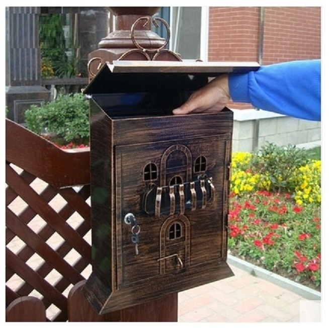 European Church Mailbox South American home mailbox letter newpaper magazine metal box free shipping