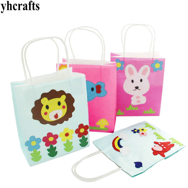 Us 4 74 5 Off 2pcs Lot Mix Diy Easter Paper Handbag Create Your Own Goody Bag Early Educational Toys Kindergarten Crafts In Model