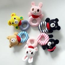 Детские Погремушки, Мягкие Животных Плюшевые Игрушки Кролик Медведь Ткань Погремушки Мягкие Колокольчики Милые Детские Игрушки 0-12 Месяцев развивающие Игрушки