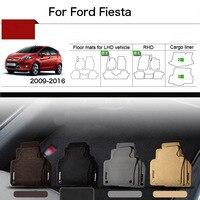 5pcs 1 2 Thick Solid Nylon Interior Floor Carpet Mats For Ford Fiesta 2009 2016