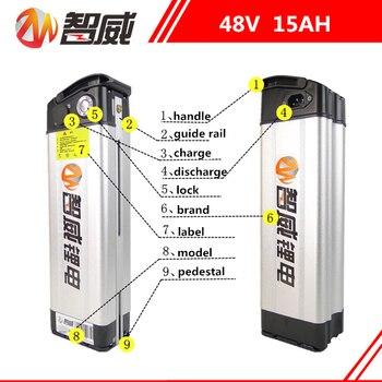 48V 15AH литий ионный перезаряжаемый заряжаемый Аккумулятор для электрических велосипедов (60 км) все устройства источник питания (бесплатное з