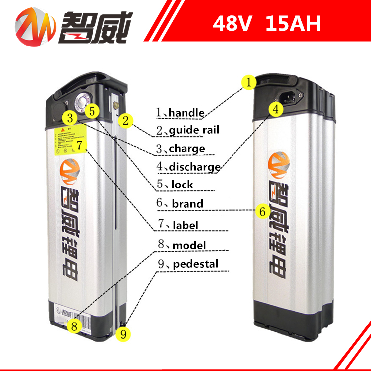 48V 15AH Lithium ion li-ion Rechargeable chargeable battery for electric bicycles (60KM) all devices Power Source (FREE charger) delipow lithium iron phosphate battery charger charger for 1450010440 3 7v 18650 rechargeable li ion cell