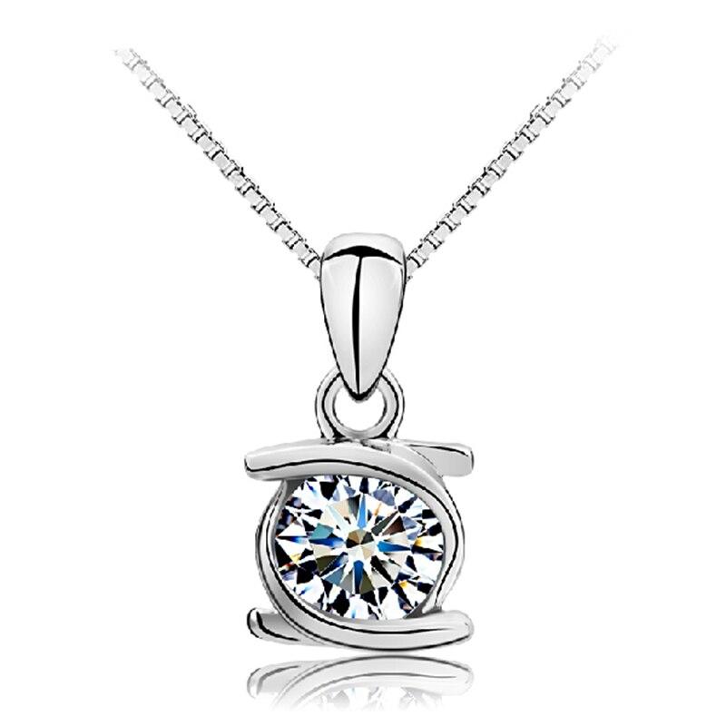 Silver Dainty Chaîne Ailes d/'Ange Zircon Cubique Décoré Design Collier Pendentif