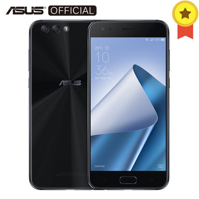 ASUS zenfone4 ZE554KL 8-ядерный Snapdragon 630 4 ГБ Оперативная память 64 ГБ Встроенная память Android 7.1.1 5,5 дюйма FHD Экран 3300 мАч NFC мобильный телефон 5V2A