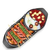 Электрический мясо бытовой жаркое Корейская Рыба Открытый стейк барбекю печь для выпечки гриль, барбекю инструмент выпечки сковорода маши