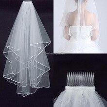 Платьев фаты образец свадебных реальный складе слоя свадебные платья белый аксессуары