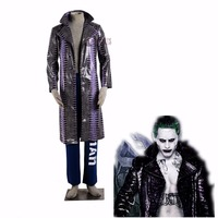 Athemis Bruce Wayne Cosplay Suicide Squad Joker cosplay Costumes leather coat set in stock