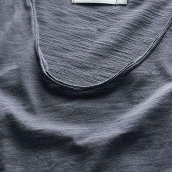 Zecmos Long Sleeve Men T-Shirt V Neck Male T Shirt Cotton Fashion Top Tees Slim Fit 2