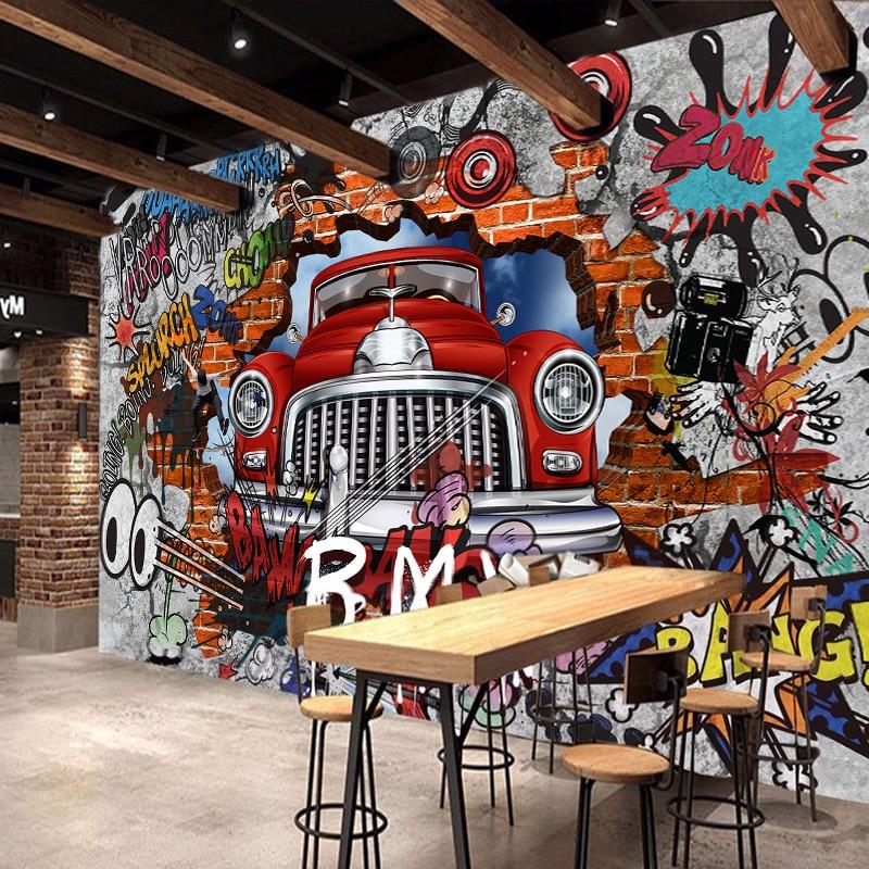 Retro Car  Photo Wallpaper Wall Mural DECOR Paper Poster Free Paste