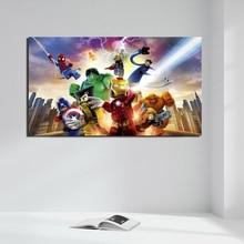 цены на Marvel Super Heroes HD Canvas Painting Print Living Room Home Decoration Artwork Modern Wall Art Oil Painting Poster Picture Art  в интернет-магазинах