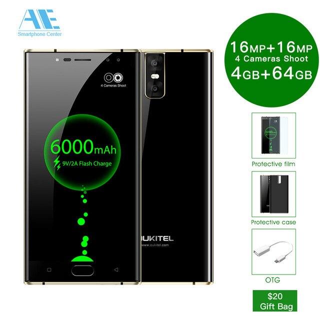 Oukitel K3 4 г Оперативная память 64 г Встроенная память 5.5 FHD 4 Камера 6000 мАч Батарея смартфон mt6750t Octa core android 7.0 4 г LTE ОТА OTG мобильного телефона