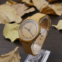 Fashion Simple 100% Natural Bamboo Wooden Wristwatches For Women With High Quality Japan Movement  цены