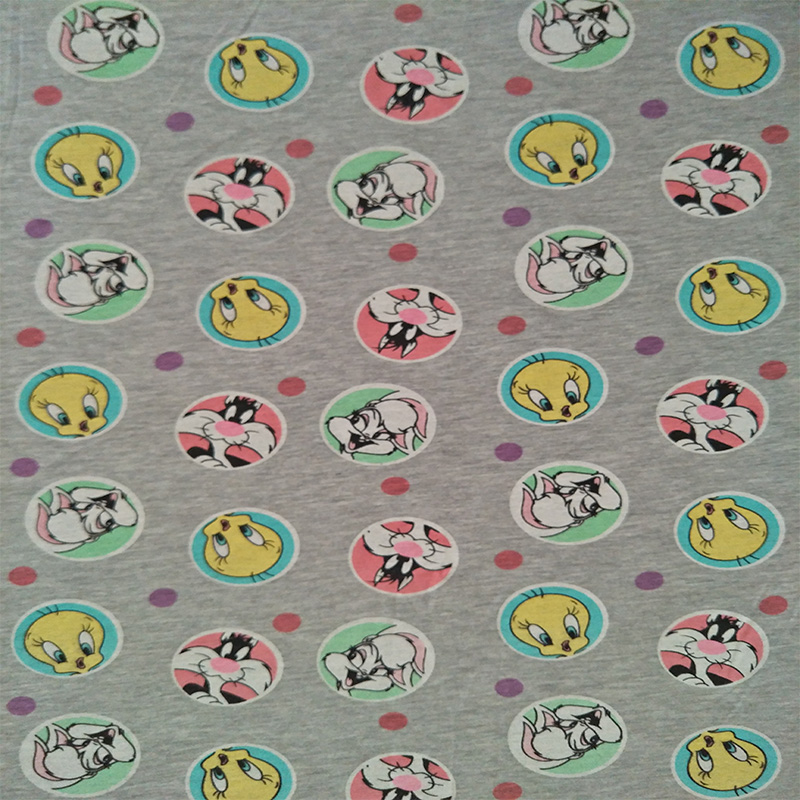 175cm Width Sylvester, Tweety Bird, Lola Bunny Jersey Knitted Cotton Fabric for Baby Girl Clothes Sewing Patchwork DIY-AFCK249