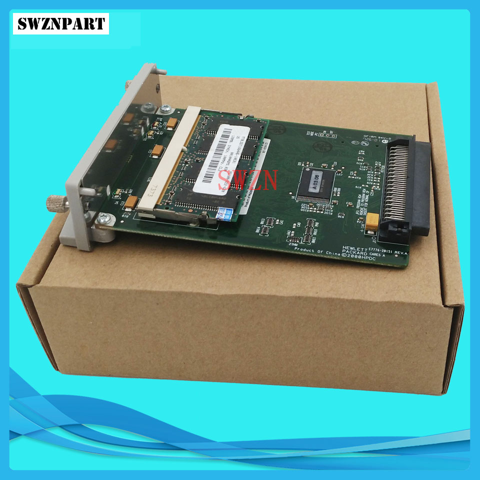 C7772A For HP Designjet 500 plus GL2 Card Formatter Board Card +128M Fixes 05:09 05:10 ink plotter printhead board printer parts q6713 60001 main electronics board designjet t1100 hd t1120 hd t1200 hd formatter board main boad ink printer plotter parts