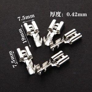 50 zestawów 6.3mm z przezroczysta powłoka włożona sprężyna 6.3mm złącze żeńskie złącze Faston z izolatorem do drutu