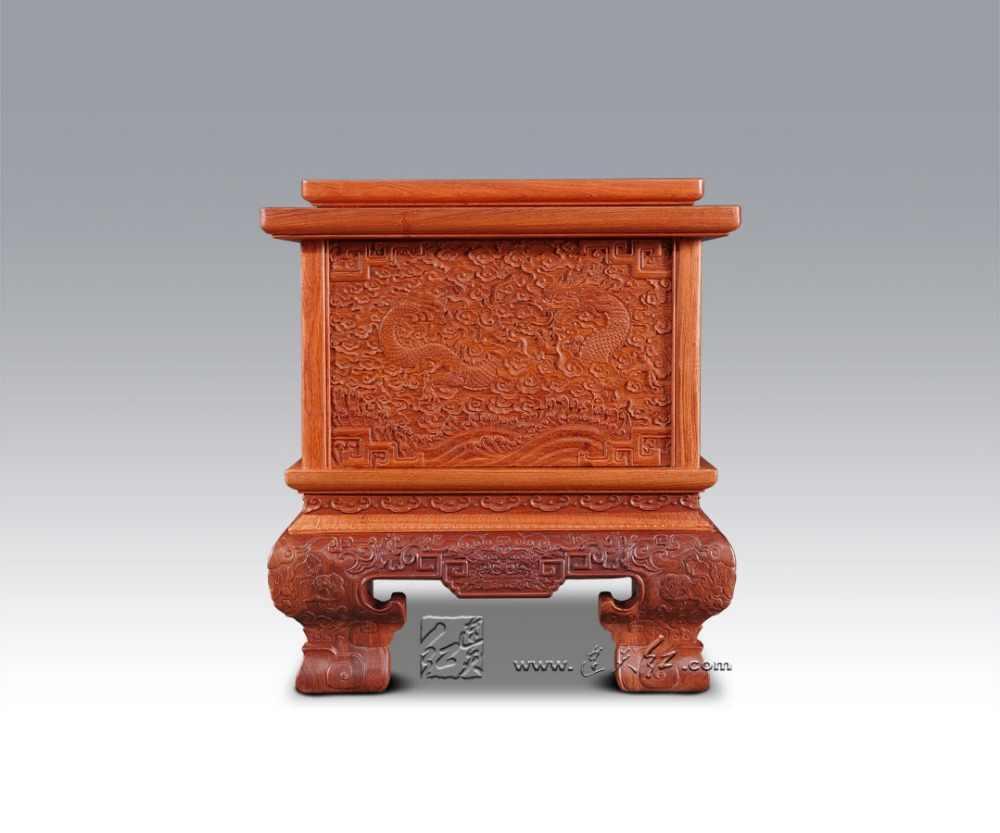 Stojak na telewizor z pojemnikiem do przechowywania Bur Padauk salon meble z litego drewna Carven smok wzór książki tabeli palisander korzystając z łączy z boku biurko