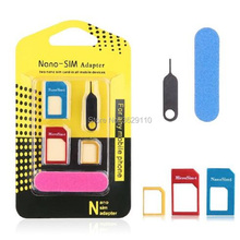 hopeboth 5 in 1 Nano Sim Card Adapters Regular Micro