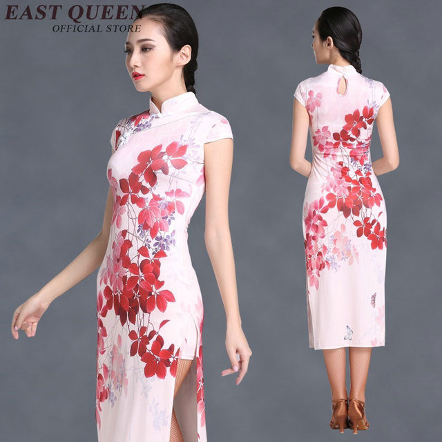 2ab010a824154 Chinois traditionnel robe femmes robe chinoise qipao côté fente cheongsam  chinois style moderne chinois oriental robes