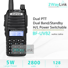 Original Baofeng UV-82 Walkie Talkie 5W 128Ch doble banda VHF UHF 136-174MHZ 400-520MHZ portátil Baofeng UV82 Radio Baofeng 82(China)