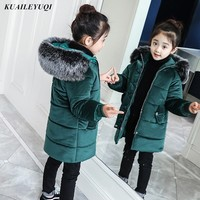 Kids Parkas Hooded Coat children's Winter jackets Warm Down cotton For Girl clothes Children Outerwear Thick Overcoat enfant