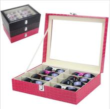 LAN LIN watches & glasses display box 3d glasses display cases watches display frame leather receive box mixed colors mix colors