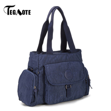 TEGAOTE Top-handle Bag Female Handbags Luxury Women Bags Designer Nylon Waterproof Bolsas Beach Purse Casual Tote Zip Sac Femme