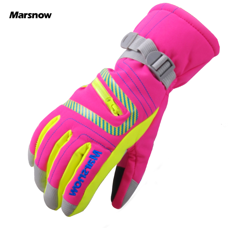 Marsnow Children Women Men Warm Ski Gloves Snowboard Gloves Motorcycle Riding Winter Windproof Waterproof Kid Snow Winter Gloves muñeco buffon