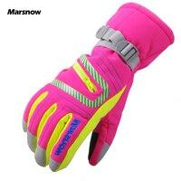 Marsnow Children Women Men Warm Ski Gloves Snowboard Gloves Motorcycle Riding Winter Windproof Waterproof Kid Snow