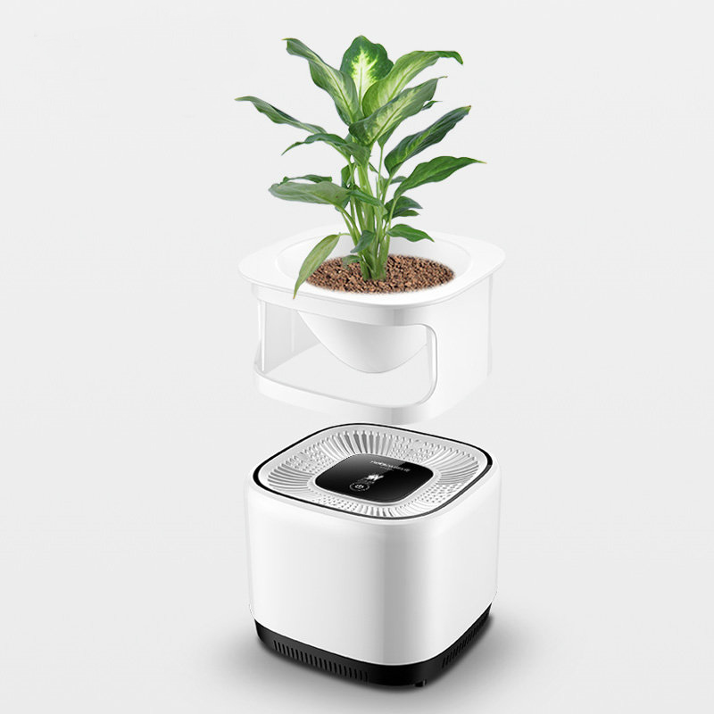 Diy Plant Air Purifier Household Portable Disinfector 3 In 1 Composite Filter Negative Lon Essential Oil Fragrance Humidifie Purifiers From Home
