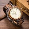5 Colores Disponibles 47.5mm Tamaño de Los Hombres Reloj de Oro Movimiento de Importación Japón Reloj de Madera de Madera de Calidad de Oro