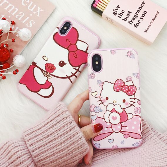 For iPhone X Hello Kitty Cat Minnie Mouse Alice Cute Matte Soft TPU Case For iPhone 8 6 6S 7 Plus