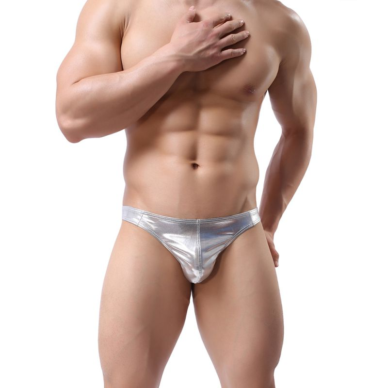 Men\'s Sexy T-Back Thongs G-Strings Male Low Rise Man Comfortable Briefs Underwear Solid Colors