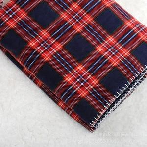 Image 5 - Plaid rouge quadrillé écossais 2 couches